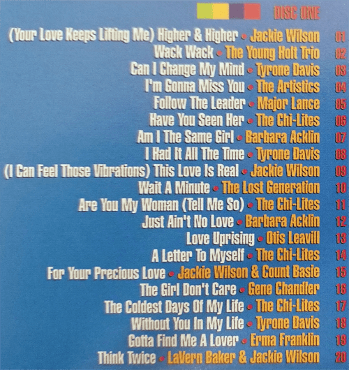 Brunswick Records Top 40 R&B Singles Disc One